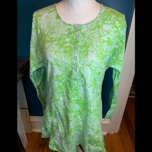 (4 for $25🔥)J. Crew green cotton beach coverup